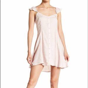 Love fire flutter cap sleeve  dress